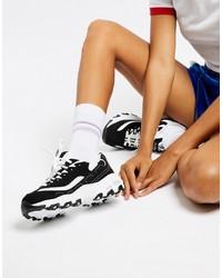 Chaussures de sport noires et blanches Skechers