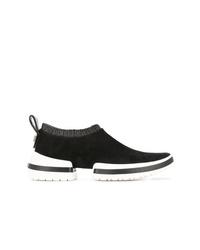 Chaussures de sport noires et blanches Stuart Weitzman