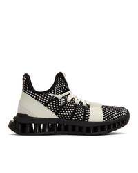Chaussures de sport noires et blanches Z Zegna