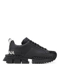 Chaussures de sport noires Dolce & Gabbana