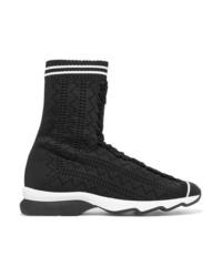 Chaussures de sport noires Fendi