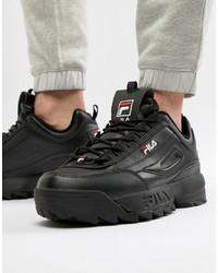 Chaussures de sport noires Fila