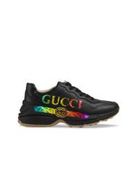 Chaussures de sport noires Gucci