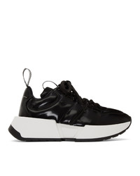 Chaussures de sport noires MM6 MAISON MARGIELA