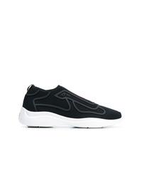 Chaussures de sport noires Prada