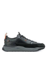 Chaussures de sport noires Santoni