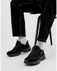 Chaussures de sport noires Skechers