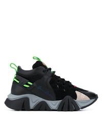 Chaussures de sport noires Versace