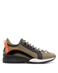 Chaussures de sport olive DSQUARED2