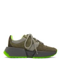 Chaussures de sport olive MM6 MAISON MARGIELA