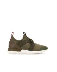 Chaussures de sport olive Moncler