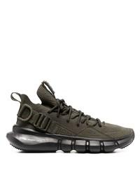 Chaussures de sport olive Neil Barrett