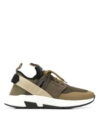 Chaussures de sport olive Tom Ford