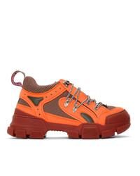 Chaussures de sport orange Gucci