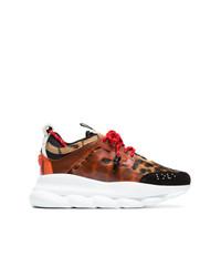 Chaussures de sport orange Versace