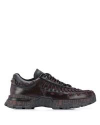 Chaussures de sport pourpre foncé Ermenegildo Zegna