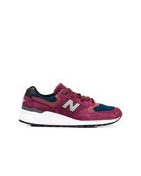 Chaussures de sport pourpre foncé New Balance