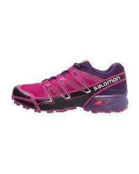 Chaussures de sport pourpres Salomon