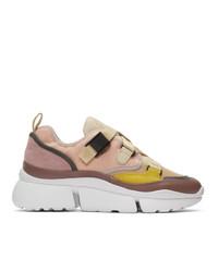 Chaussures de sport roses Chloé