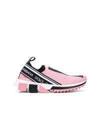 Chaussures de sport roses Dolce & Gabbana
