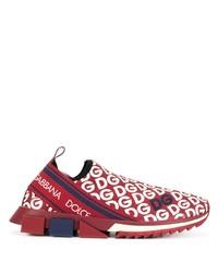 Chaussures de sport rouge et blanc Dolce & Gabbana