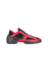 Chaussures de sport rouge et noir Giuseppe Zanotti Design