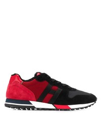 Chaussures de sport rouge et noir Hogan