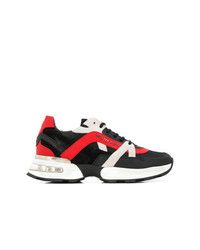 Chaussures de sport rouge et noir Philipp Plein