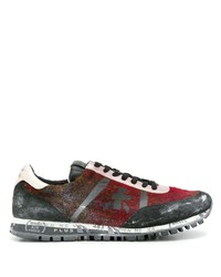 Chaussures de sport rouge et noir Premiata