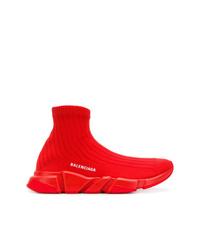Chaussures de sport rouges Balenciaga
