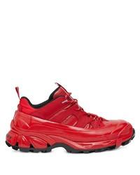 Chaussures de sport rouges Burberry
