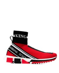 Chaussures de sport rouges Dolce & Gabbana