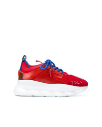 Chaussures de sport rouges Versace