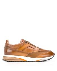 Chaussures de sport tabac Santoni