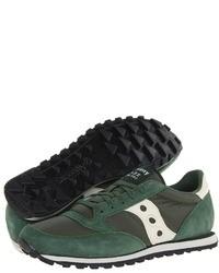 Chaussures de sport vert foncé