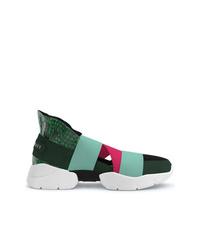 Chaussures de sport vert foncé Emilio Pucci