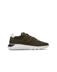 Chaussures de sport vert foncé Hogan