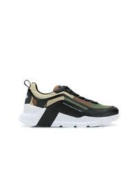 Chaussures de sport vert foncé MSGM