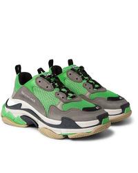 Chaussures de sport vertes Balenciaga