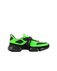Chaussures de sport vertes Prada
