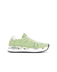 Chaussures de sport vertes Premiata