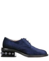 Chaussures derby bleu marine Nicholas Kirkwood