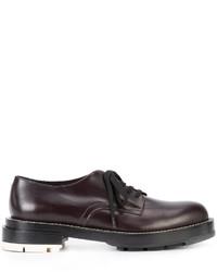 Chaussures derby en caoutchouc bordeaux Marni