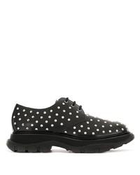 Chaussures derby en cuir à clous noires Alexander McQueen