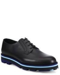 Chaussures derby en cuir à rayures horizontales noires