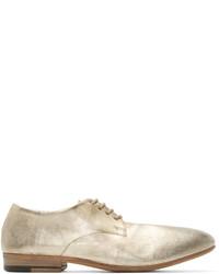 Chaussures derby en cuir beiges Marsèll
