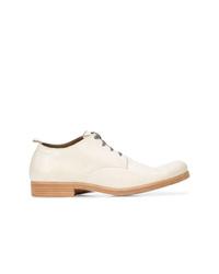 Chaussures derby en cuir blanches Taichi Murakami
