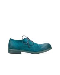 Chaussures derby en cuir bleu canard Marsèll