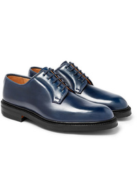 Chaussures derby en cuir bleu marine