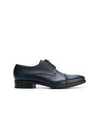 Chaussures derby en cuir bleu marine Baldinini